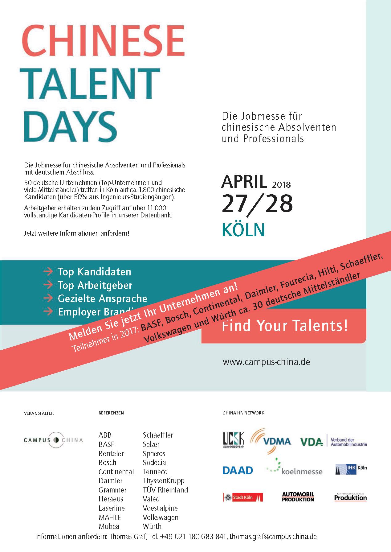 Auslage Talent Days