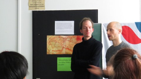 Albert Mäkitalo and Henry Weidemann introducing the ICTAM IX film