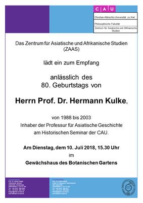 Einladung zum Gastvortrag von Herrn Prof. Dr. Kulke