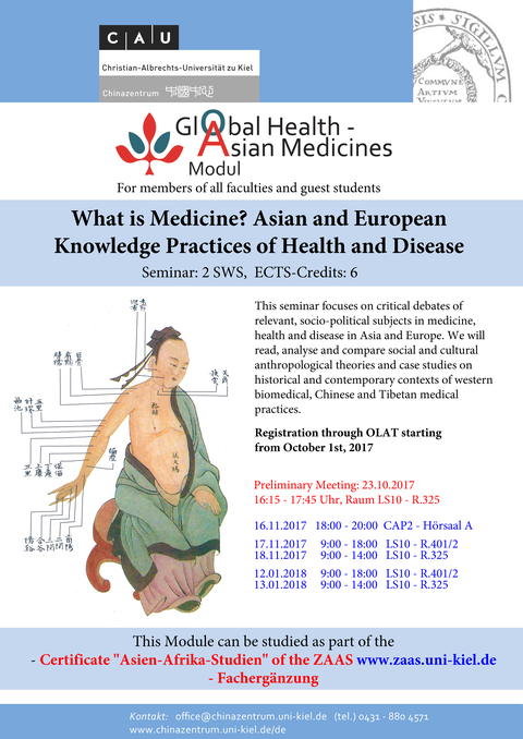 Seminar Global Health Asian Medicines Module