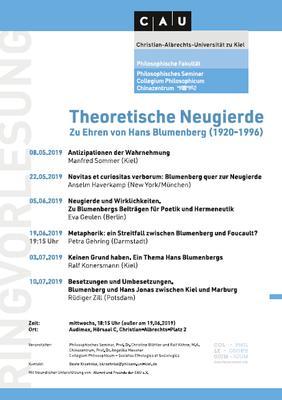 Ringvorlesung: Theoretische Neugierde 2019