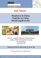 Studieren in China - Info Abend