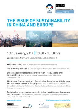 Plakat: Symposium: The issue of sustainability in China and Europe