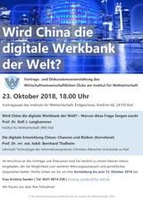 Plakat Wird China die digitale Werkbank der Welt